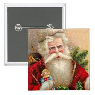 Vintage Papá Noel con la muñeca Pins