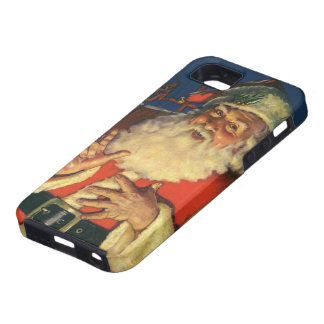 Vintage Papá Noel con los juguetes el Nochebuena iPhone 5 Carcasas