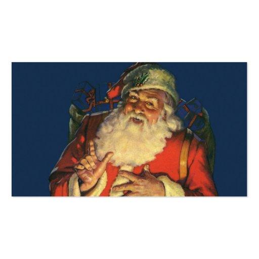 Vintage Papá Noel con los juguetes el Nochebuena Tarjetas Personales