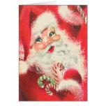 Vintage Papá Noel con navidad del caramelo de azúc
