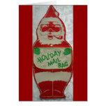 Vintage Papá Noel de las Felices Navidad Felicitacion