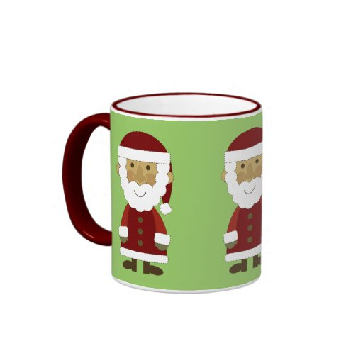 Vintage Papá Noel del país Taza De Dos Colores