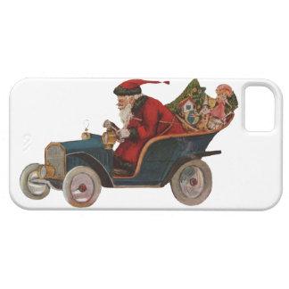 Vintage Papá Noel divertido en coche antiguo con iPhone 5 Carcasa