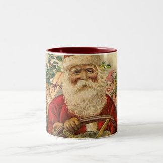 Vintage Papá Noel en coche: Taza de café