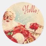 Vintage Papá Noel Etiquetas