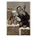 Vintage Papá Noel Felicitaciones