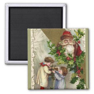 Vintage Papá Noel Iman Para Frigorífico