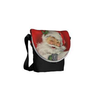 Vintage Papá Noel - la mini bolsa de mensajero Bolsa De Mensajeria