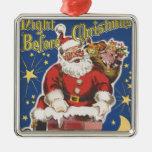Vintage Papá Noel, noche de Twas antes del navidad Adorno De Reyes
