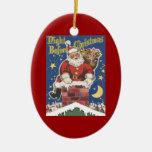 Vintage Papá Noel, noche de Twas antes del navidad Ornamentos Para Reyes Magos