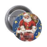 Vintage Papá Noel, noche de Twas antes del navidad Pin Redondo De 2 Pulgadas