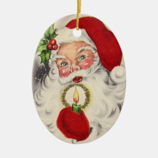 Vintage Papá Noel Ornatos