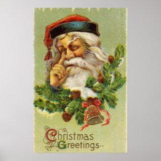 Vintage Papá Noel Impresiones