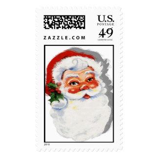 Vintage Papá Noel pasado de moda Franqueo