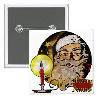 Vintage Papá Noel Pin Cuadrado