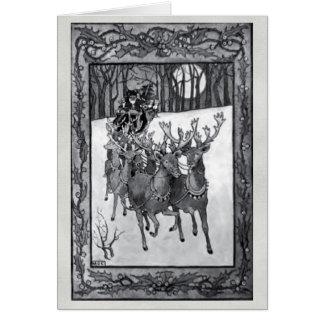 Vintage Papá Noel por la tarjeta de Navidad de Bau