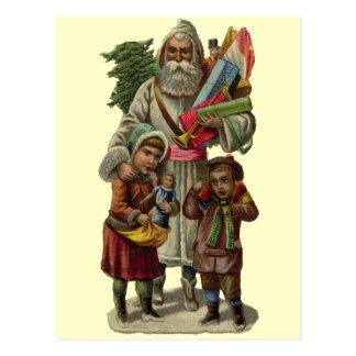 Vintage Papá Noel Postal