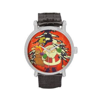 Vintage, Papá Noel Relojes De Pulsera