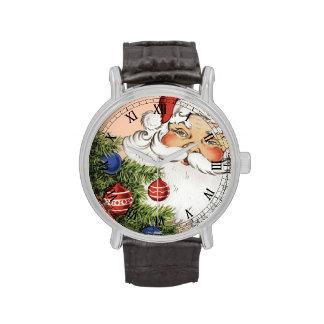 Vintage Papá Noel Relojes De Pulsera