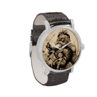 Vintage Papá Noel Relojes