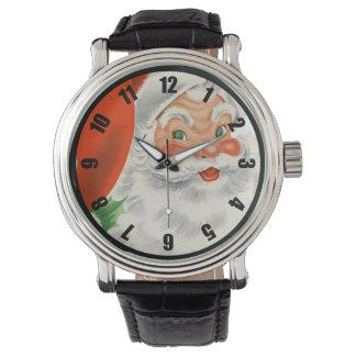 Vintage Papá Noel retro Reloj
