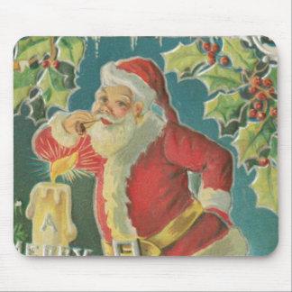 Vintage Papá Noel Mousepad