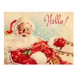 Vintage Papá Noel Tarjeta Postal