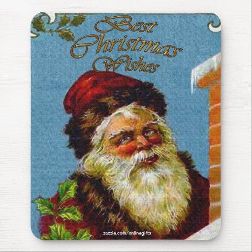 Vintage Papá Noel y Navidad Mousepad de la chimene Tapetes De Raton