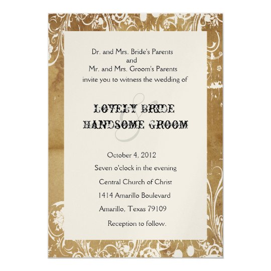 Vintage Paper and Lace Wedding Invitations