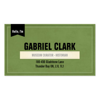 Vintage Paper and Ribbon - Green Double-Sided Standard Business Cards (Pack Of 100)