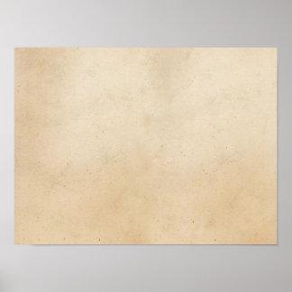 Vintage Paper Antique ParchmentTemplate Blank Poster