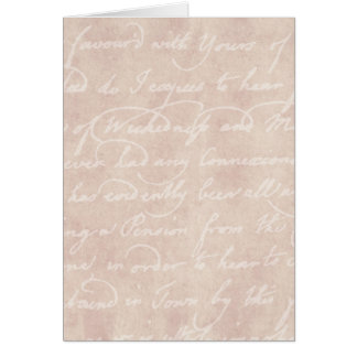 Vintage Paper Antique Script Writing Parchment Card