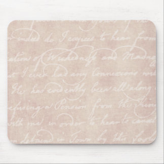 Vintage Paper Antique Script Writing Parchment Mouse Pad