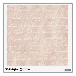 Vintage Paper Antique Script Writing Parchment Wall Sticker