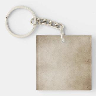 Vintage Paper Brown Antique Parchment Background Keychain