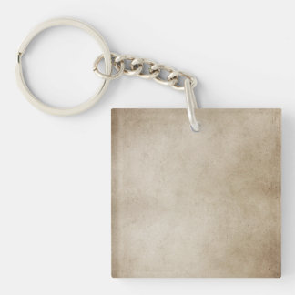 Vintage Paper Brown Antique Parchment Background Single-Sided Square Acrylic Keychain