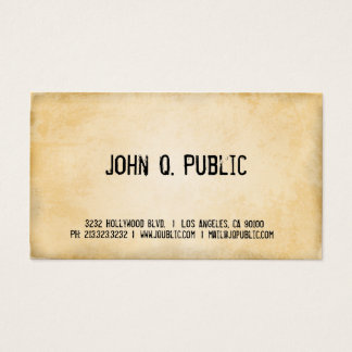Vintage Paper Business Card