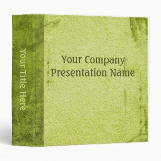 Vintage Paper Business Green Binder