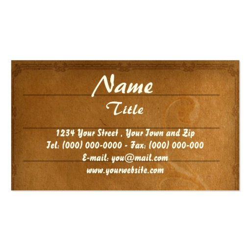 Vintage Paper Business Profile Card Double-Sided Standard Business Cards (Pack Of 100)
