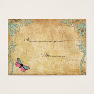 Vintage Paper Butterfly Table Place Card