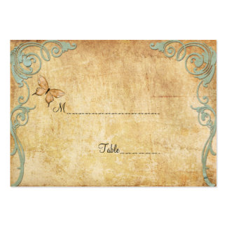 Vintage Paper Butterfly Table Place Card Business Card Template