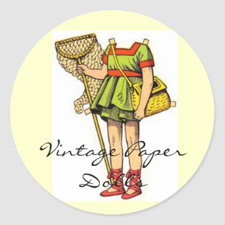 Vintage Paper Doll Stickers