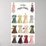 Vintage Paper Dolls, 2 of 2 Poster