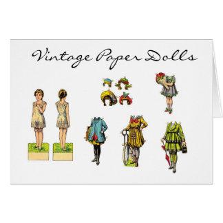 Vintage Paper Dolls Greeting Cards