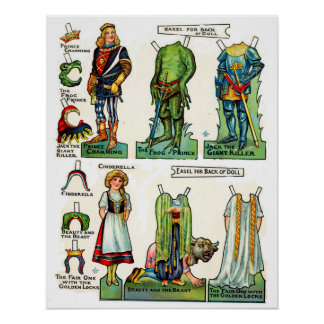 Vintage Paper Dolls Interactive Play Poster