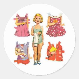 Vintage Paper Dolls Stickers