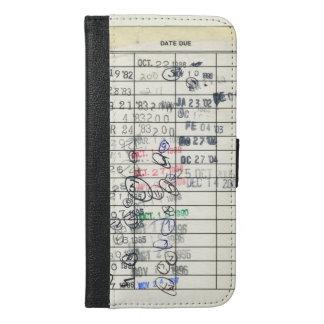 Vintage Paper Due Date Library Return Slip iPhone 6/6s Plus Wallet Case