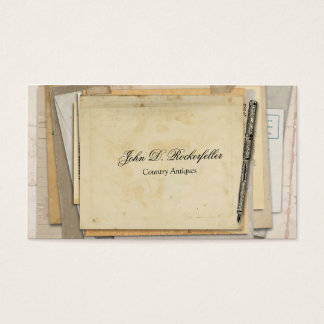 Vintage Paper Ephemera Antique Fountain Pen Business Card