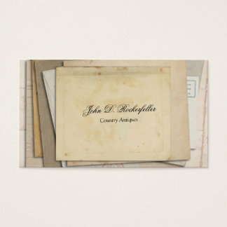 Vintage Paper Ephemera Antiques Business Card