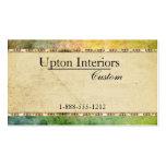 Vintage Paper, Green Batik Business Card